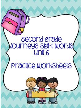 Second Grade Journeys Sight Words Unit 6
