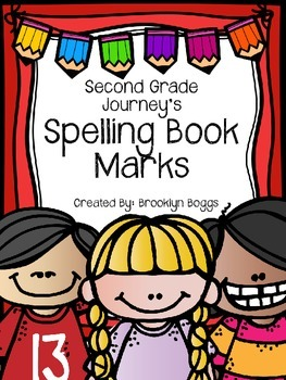 Second Grade Journey's Spelling Bookmarks: 30 Spelling Lists