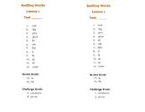 Second Grade Journeys Spelling Lists