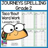 Second Grade 2nd Grade Journeys 2010 Spelling Word Work Activities 30 Lessons
