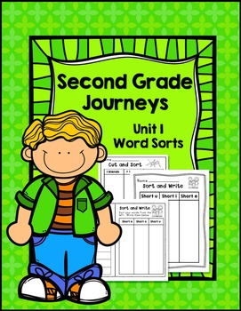 Second Grade Journeys Unit 1 Differentiated Word Sort Activities