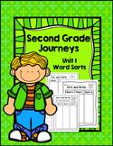 Second Grade Journeys Unit 1 Differentiated Word Sort Activities