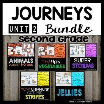 Journeys Second Grade | Unit 2 | Bundle | How Chipmunk Got His Stripes