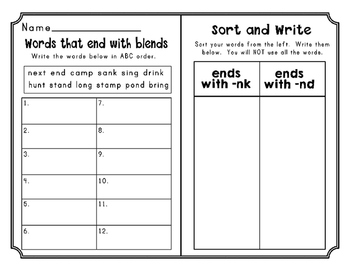 Second Grade Journeys Unit 2 Differentiated Word Sort Activities