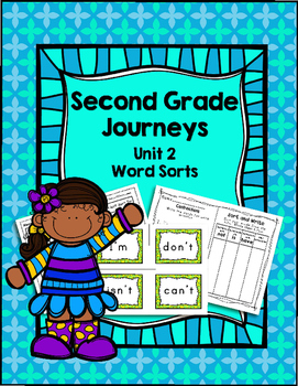 Second Grade Journeys Unit 2 Differentiated Word Sort Activities