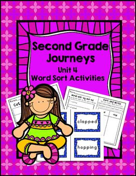Second Grade Journeys Unit 4 Differentiated Word Sort Activities
