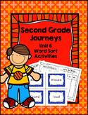 Second Grade Journeys Unit 6 Differentiated Word Sort Activities