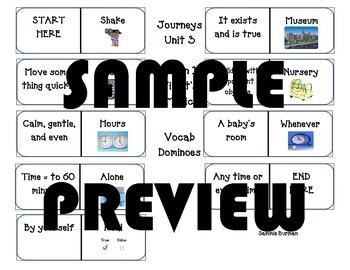 Second Grade Journeys Vocabulary Dominoes Unit 3 Lesson 12
