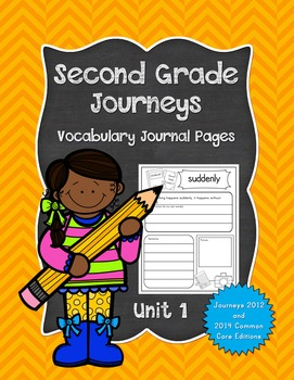Second Grade Journeys Vocabulary Journal Pages Unit 1 Prin