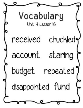 Journeys Second Grade Vocabulary Posters