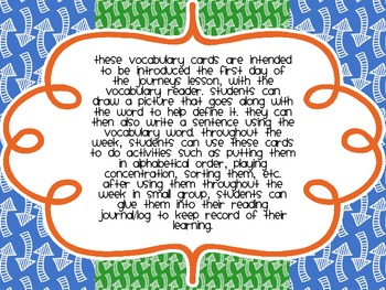 Second Grade Journeys Vocabulary {Unit Three}