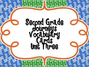 Second Grade Journeys Vocabulary {Unit Three}