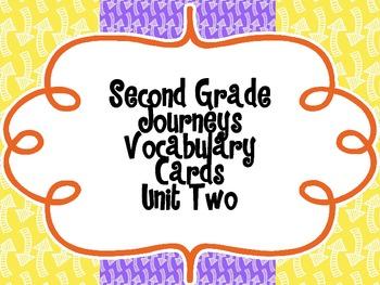 Second Grade Journeys Vocabulary {Unit Two}