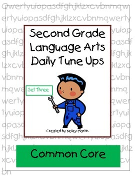 Second Grade Language Arts Daily Tune Ups Set Three (Morning Work)