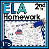 Second Grade ELA Homework with Digital Option for Distance