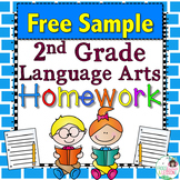 Second Grade Language Arts Homework - Free Sample