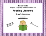 """Second Grade Language Arts """"I Can"""" Statement Cards for Rea"""