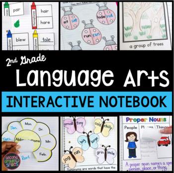 Second Grade Interactive Notebook Language Arts | 2nd Grade ELA Notebook