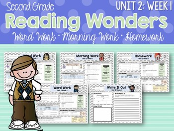 Second Grade Language Arts Morning Work / Homework Unit 2: Week 1