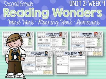Second Grade Language Arts Morning Work / Homework Unit 2: Week 4