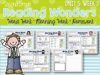 Second Grade Language Arts Morning Work / Homework Unit 5: Week 3