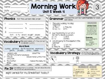 Second Grade Language Arts Morning Work Unit 5: Week 4