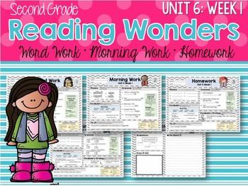 Second Grade Language Arts Morning Work / Homework Unit 6: Week 1