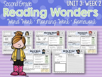 Second Grade Language Arts Morning Work Unit 3: Week 2