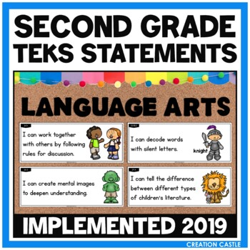 Second Grade Language Arts TEKS - Can and Will Standards Statements