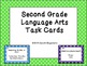 Language Arts Task Cards: Second Grade
