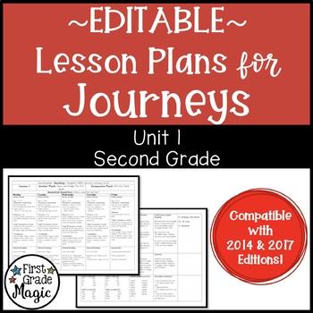 Journeys Lesson Plans Second Grade Unit 1 {EDITABLE!}