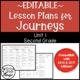 Journeys Lesson Plans Second Grade Unit 1 {EDITABLE!}