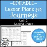 Journeys Lesson Plans Second Grade Unit 2 {EDITABLE!}