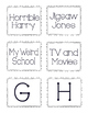 Second Grade Library Labels