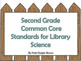 Second Grade Library Science Common Core Posters with References