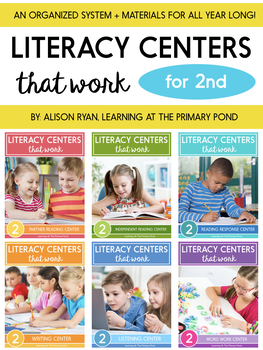 Literacy Centers Bundle for Second Grade {Literacy Centers That Work Series}