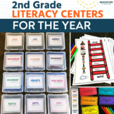 Second Grade Literacy Centers - Literacy Stations - Back to School Activities