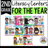Second Grade Literacy Centers for the Year Bundle