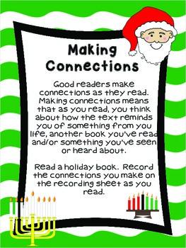 Second Grade Literacy Stations for December with Bonus Calendar Set for December
