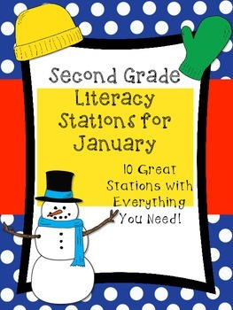 Second Grade Literacy Stations for January (Ready to Use &