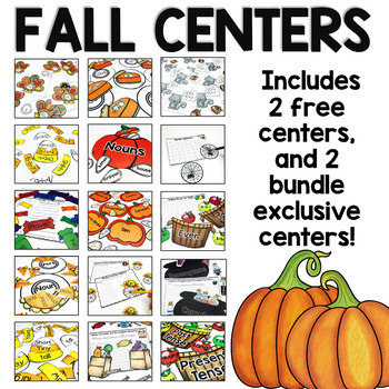 Literacy and Math Centers Bundle: For Second Grade