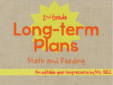 {Editable} BUNDLED Long Term or Year Long Plans For 2nd Gr