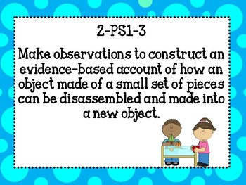 Second Grade Louisiana State Science Standards for classroom!