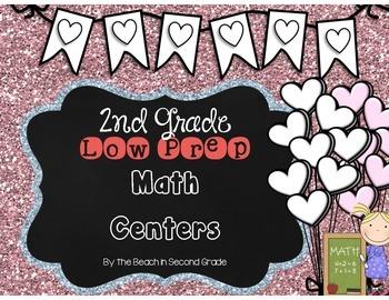 Second Grade Low Prep Math Centers