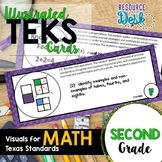 Second Grade MATH TEKS - Illustrated and Organized Objecti