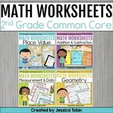Second Grade Math Worksheets Bundle- Google Classroom Distance Learning Math