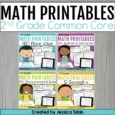 Second Grade Math Worksheets Bundle- Digital Printables Wi