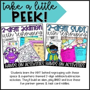 Second Grade Math Activity Packs YEAR LONG BUNDLE