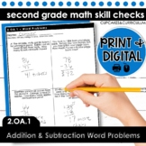 Addition and Subtraction Word Problems   Second Grade Math 2.OA.1