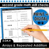 Arrays and Repeated Addition | Second Grade Math 2.OA.4